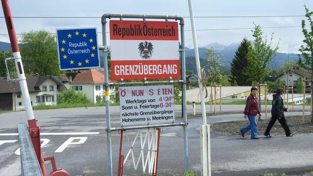 Grenzübergang Oberriet/SG.