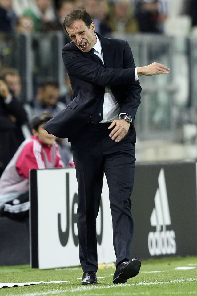 Massimiliano Allegri ärgert sich