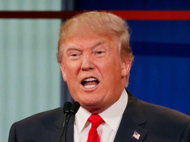 Donald Trump während einer Fernsehansprache