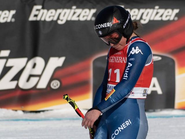 Sofia Goggia verpasst den Saisonhöhepunkt.