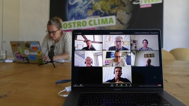 Virtuelle Lancieriung des Klimaplans