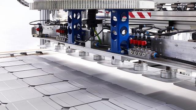Produktion von Solarpanels