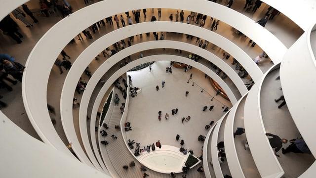Innenansicht des Guggenheim Museum in New York.