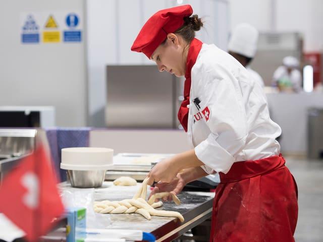 Die Schweizer Bäckerin Ramona Bolliger am 1. Wettkampftag.