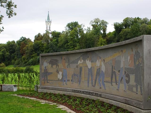 Das Soldatendenkmal nach der Restaurierung.