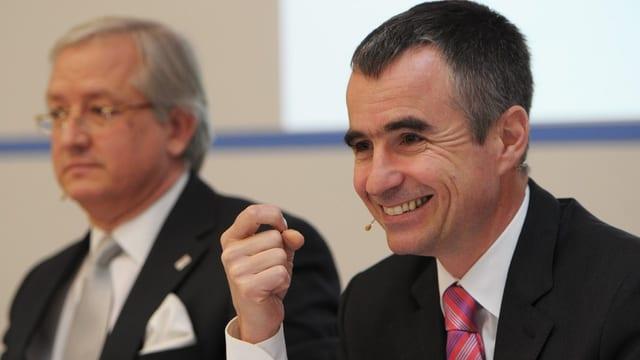 Helsana-CEO Daniel Schmutz anlässlich der Bilanzpressekonferenz.