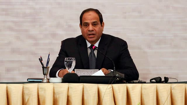 Purtret dal president egipzian Abdel Fattah al-Sisi.