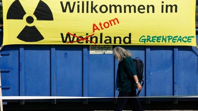 """Plakat: """"Willkommen im Atomland"""""""
