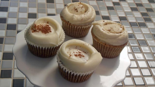 Rüebli-Cupcakes mit Creamcheese-Topping