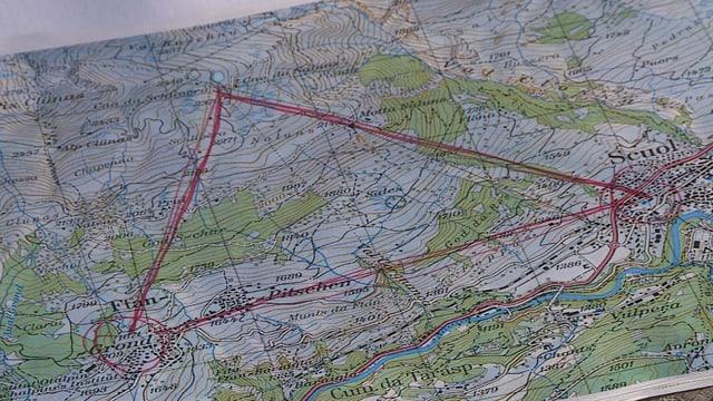 Colliaziun cun Ftan cun la lingia fibra da vaider sur il territori da skis Motta Naluns