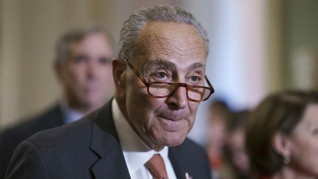 Der demokratische Mehrheitsführer um US-Senat, Chuck Schumer,