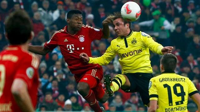 Bayern und Dortmund lieferten sich ein packendes Duell.