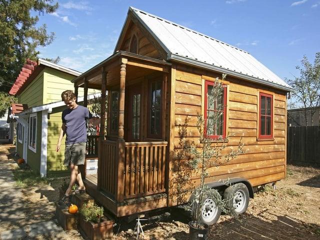 Mini-Haus auf Rädern