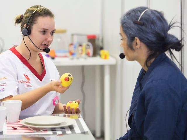 Während dem Wettbewerb muss Irina Tuor verschiedene Aufgaben lösen.