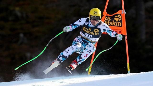 Max Franz durant la cursa en Val Gardena.