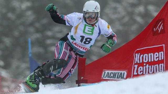 Ester Ledecka in Aktion