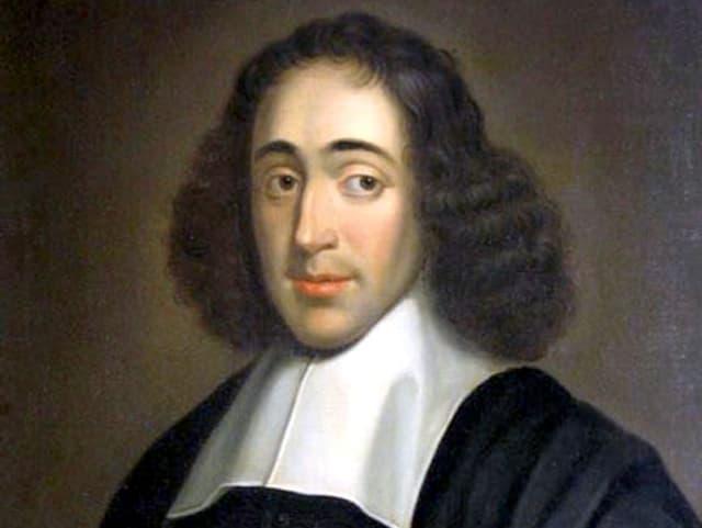 Das gemalte Porträt eines Mannes mit längeren, dunklen Haaren, er schaut mit hochgezogenen Augenbrauen.