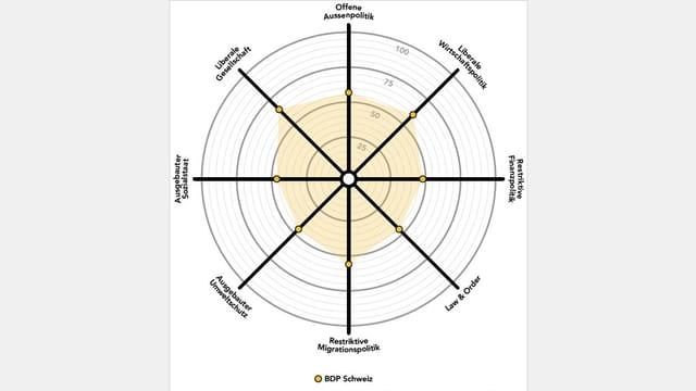 Smartspider-Grafik der BDP
