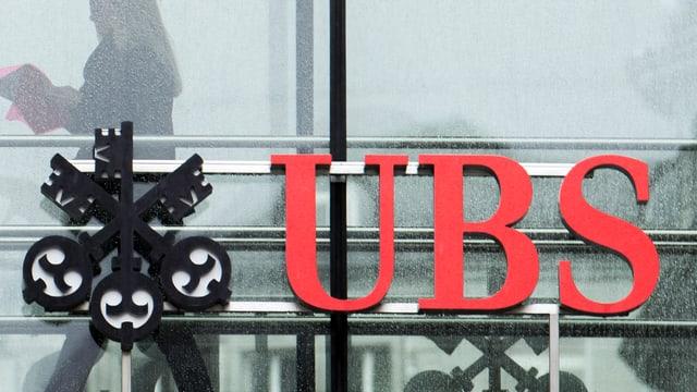 UBS Logo am Paradeplatz in Zürich.