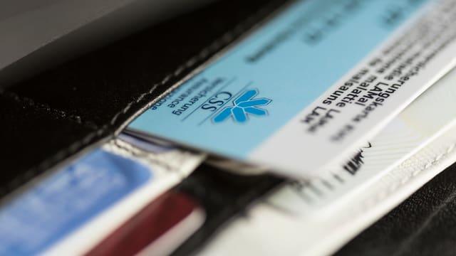 Krankenkassenkarte in Portemonnaie
