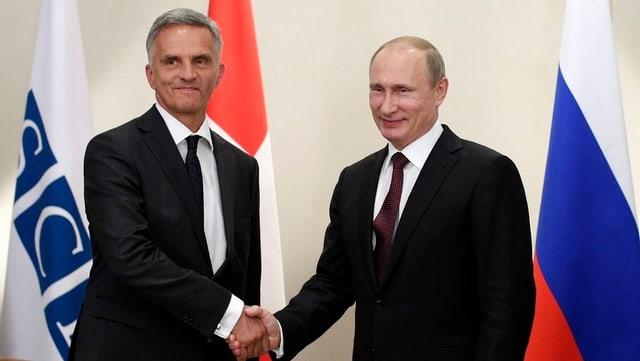 Didier Burkhalter und Vladimir Putin.