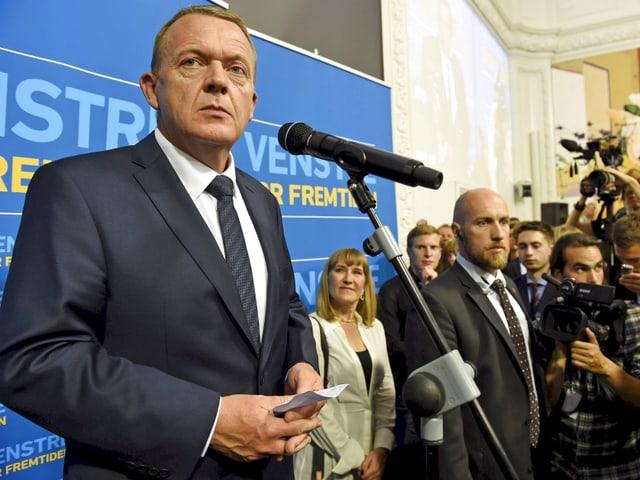 Lars Løkke Rasmussen an Rednerpult
