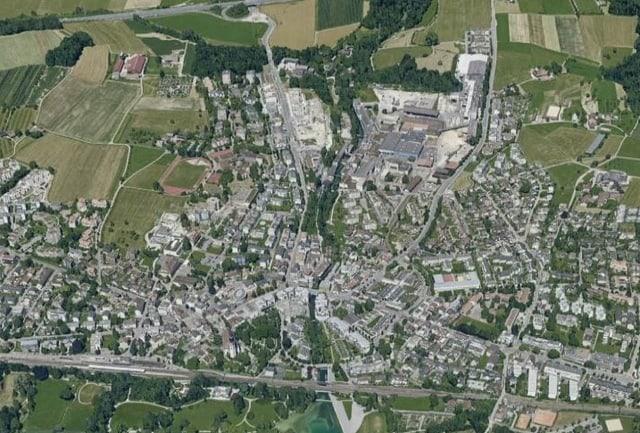Luftaufnahme von Cham.