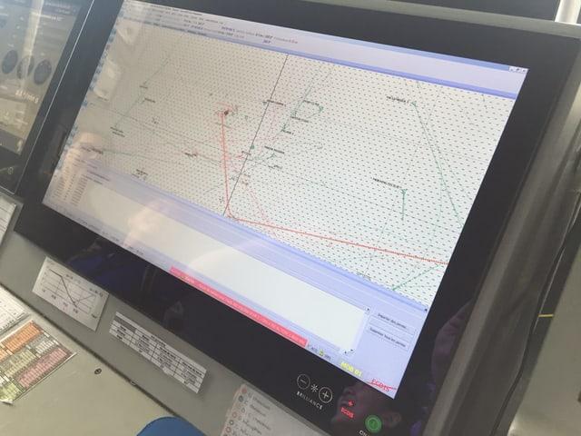 Bildschirm für die Navigation