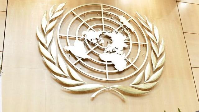 Purtret dal logo da l'ONU.