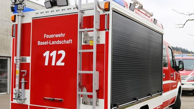 Blick auf ein Feuerwehrauto