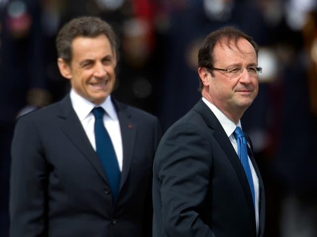 Nicolas Sarkozy und François Hollande