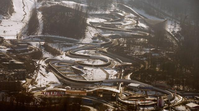 Die für Sotschi angelegte Ski-Abfahrtsstrecke in Rosa Chutor.