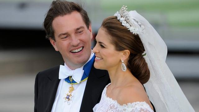 Prinzessin Madeleine von Schweden an ihrer Hochzeit mit Chris O'Neill.