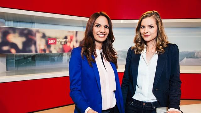 Die neuen «Schweiz aktuell»-Moderatorinnen Anna Maier und Katharina Locher