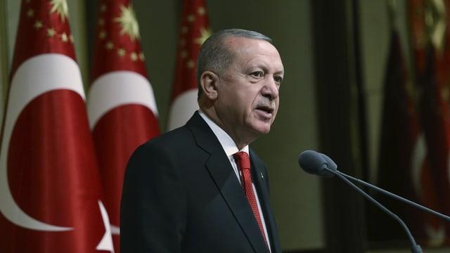 Erdogan hält eine Rede