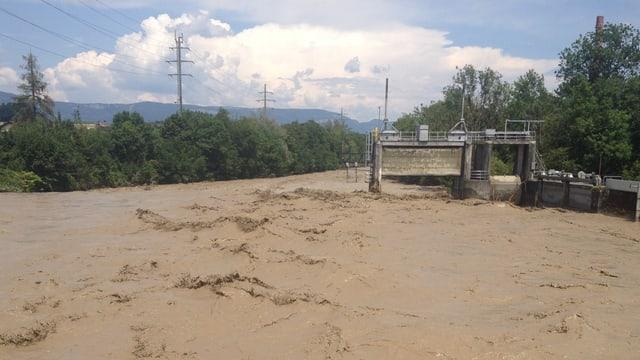 Hochwasser in der Emme