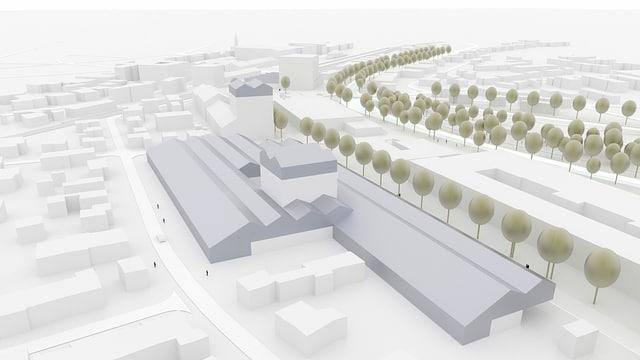 Gezeichneter Plan des «Agro Food Innovation Park» in Frauenfeld