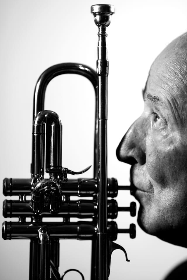 Umberto Arlati mit Trompete.