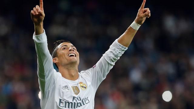Cristiano Ronaldo bejubelt einen Treffer.