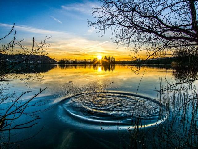 Sonnenuntergang über dem Mauensee/LU.