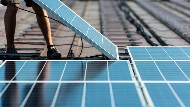 Montage von Solarpanels