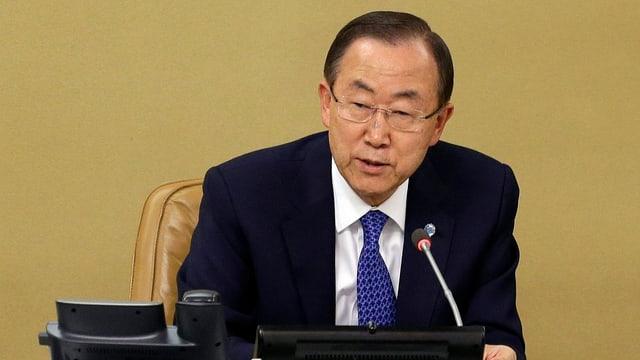 Porträt UNO-Generalsekretär Ban Ki Moon.