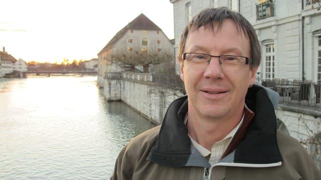 Jürgen Hofer in der Stadt Solothurn