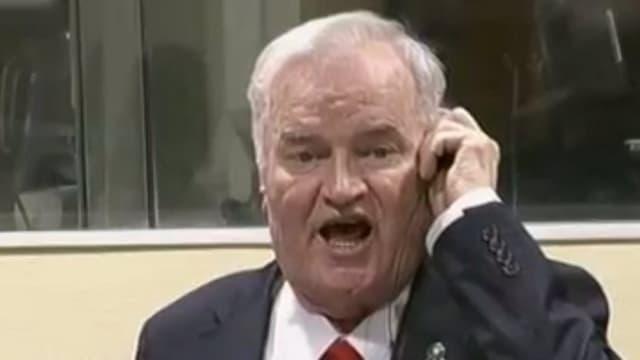 Mladic protestiert gegen Urteil.
