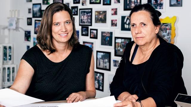 Die SRF-Produzentinnen Karen Ballmer (links) und Danielle Giuliani