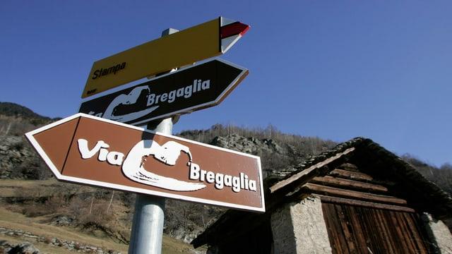 Mussavias da viandar en Val Bregalia