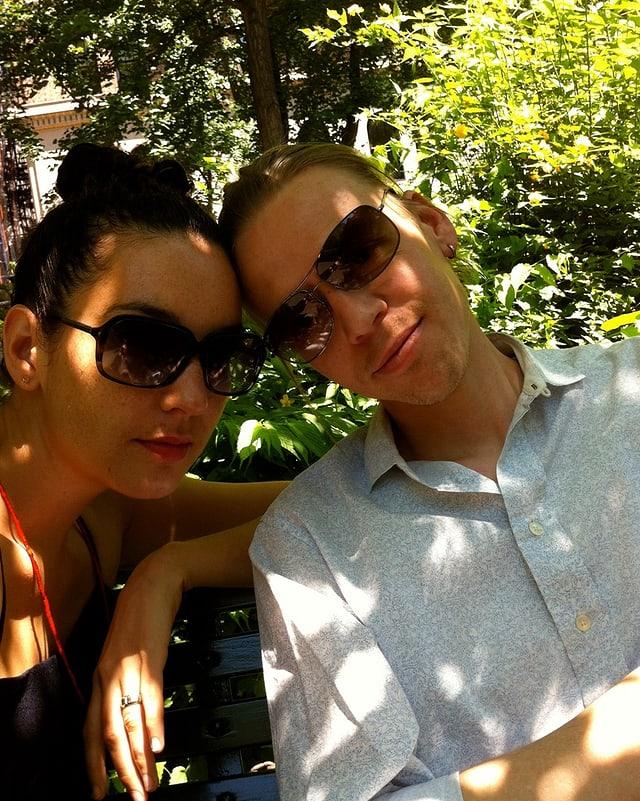 Tamika und Patrick im Gramercy Park.