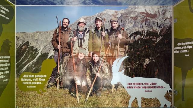 Das Plakat  «Für eine intakte Natur».
