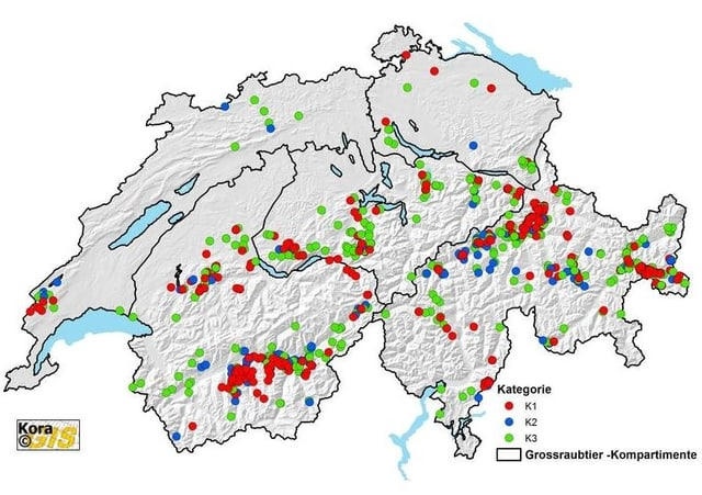 Wolfsverbreitung in der Schweiz