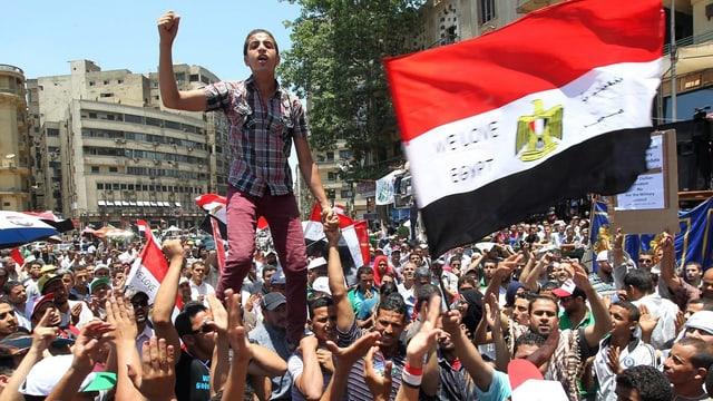 Anhänger der Muslimbruderschaft beim Demonstrieren